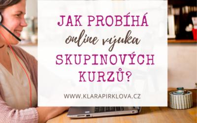 Jak probíhá online výuka skupinových kurzů